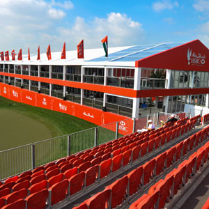Harlequin creates new look hospitality setting at Abu Dhabi HSBC Golf Championships