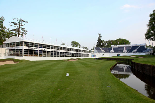 Arena Group BMW PGA Championship at Wentworth Club Arcus structure Clearview seating system