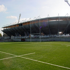 The DOMO Excellence rugby training pitch at Stade Toulousain was tested according to IRB standards.