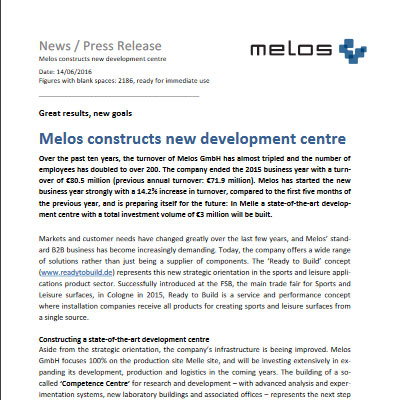 Melos Constructs New Development Centre