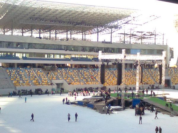 Arena Lviv, Ukraine - set up ready for action
