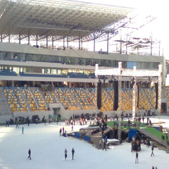 Arena Lviv, Ukraine - set up ready for action
