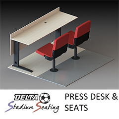Press Desk & Seats